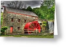 Sudbury - Storm Looms At The Grist Mill Greeting Card