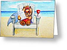 Sudoku At The Beach Greeting Card