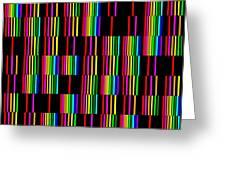Sudoku Regular Vertical Lines Greeting Card