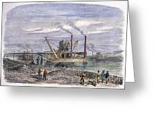 Suez Canal Construction Greeting Card