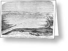 Suez Canal: Lake, 1869 Greeting Card