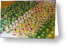 Sugar Figurines For Sale At The Day Greeting Card