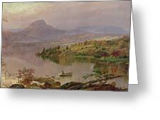 Sugarloaf From Wickham Lake Greeting Card by Jasper Francis Cropsey