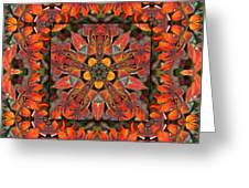 Sumac Autumn Kaleidoscope Greeting Card