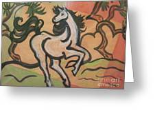 Sumihorse3 Greeting Card