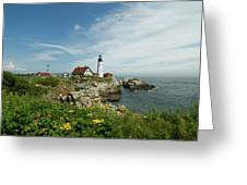 Summer At Portland Head Light Greeting Card
