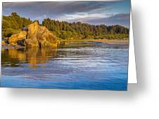 Summer Evening On Little River Greeting Card