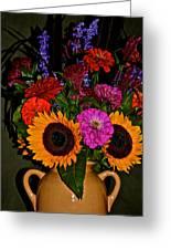 Summer Flower Bouquet Greeting Card