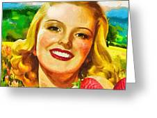 Summer Girl Greeting Card by Mo T