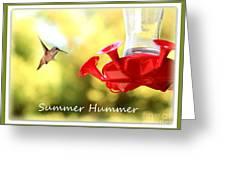Summer Hummer Poster Greeting Card