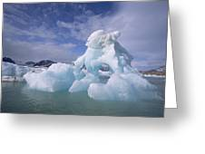 Summer Icebergs, Spitsbergen Island Greeting Card