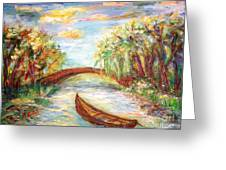 Summer Impressions  Greeting Card by Mary Sedici