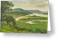 Summer Morning Hudson Highlands Greeting Card