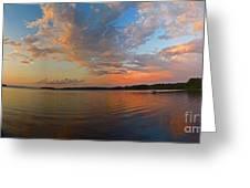 Summer Night At Sebago Lake Greeting Card