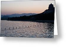 Summer Palace Serenity Greeting Card by Mike Reid