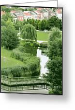 Summer Park In Belgium Greeting Card