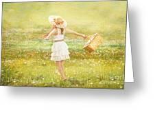 Summer Picnic  Greeting Card by Cindy Singleton