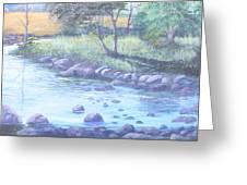 Summer River Greeting Card