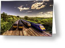 Summer Saturday At Aller Junction Greeting Card
