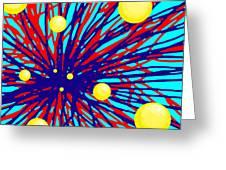 Summer Splat With Yellow Balls Greeting Card