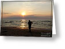 Summer Sunset Solitude Greeting Card