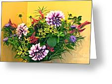 Summer To Autumn Bouquet Greeting Card