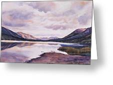 Summit Lake Evening Shadows Greeting Card