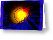 Sun And Glory Greeting Card