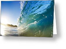 Sun And Wave Greeting Card