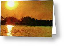 Sun Burned Greeting Card