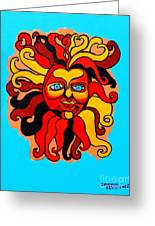 Sun God II Greeting Card