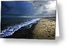 Sun Light On Dunwich Beach Greeting Card