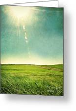 Sun Over Field Greeting Card