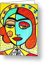 Sun Praying Angel Greeting Card