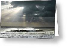 Sun Rays On Ocean Greeting Card