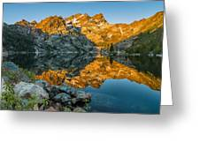 Sun Rises On Upper Sardine Lake Greeting Card