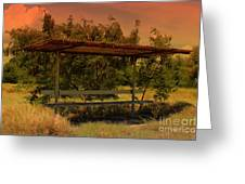 Sun Set Bus Stop Greeting Card
