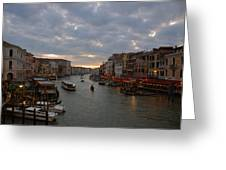 Sun Sets Over Venice Greeting Card