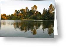 Sun Setting On The Lake Greeting Card