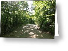 Sun Speckled Dirt Road Greeting Card