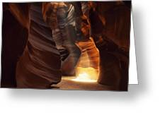 Sunbeam In Antelope Canyon Greeting Card