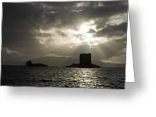 Sunbeams On Castle Stalker Greeting Card