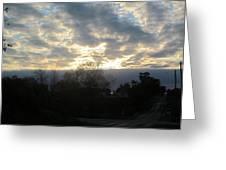Sunday Autumn Sunset One Greeting Card
