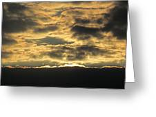 Sunday Autumn Sunset Three Greeting Card