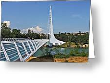 Sundial Bridge - Sit And Watch How Time Passes By Greeting Card