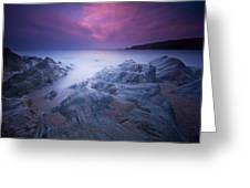 Sundown At Leas Foot Greeting Card by Mark Leader