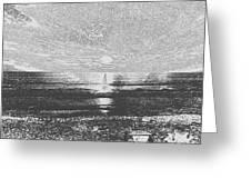Sundown At Moonlight Beach 1 Greeting Card