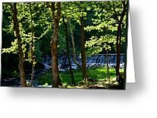 Sundown At The Falls Greeting Card