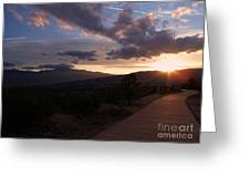 Sundown Greeting Card by Donna Parlow