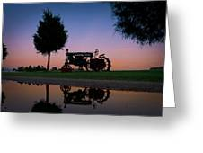 Sundown On Farmall At Chippokes Greeting Card